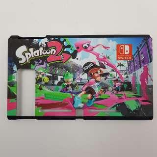🚚 [In Stock] Nintendo Switch Matte Plastic Casing with Splatoon 2 Design with IINE Bi-colour (G/P) Silicone JoyCon Casing Set