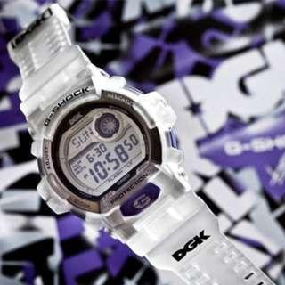 CASIO G-SHOCK DGK G-8900DGK-7 Limited Edition Purple Transparent Genuine New