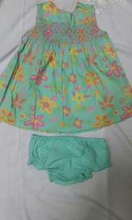 Baby dress with matching bottom wear