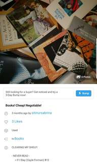 BOOKS 😊 many different genre, negotiable price and honest reviews!