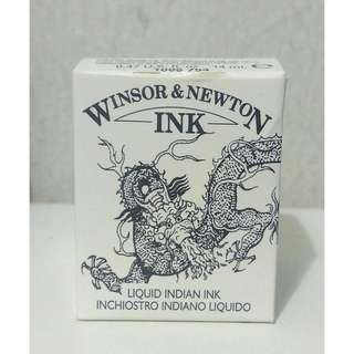 Liquid indian ink ( Winsor & Newton Ink) black ink
