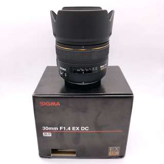NEW Sigma 30mm f1.4 EX DC HSM Lens (For Micro Four Third and Four Third Mount) + FREE auto focus Olympus MMF-3 lens adapter