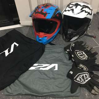 Helmets - free accessories ($80 each or $120 for both)