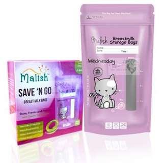 Malish - Breast Milk Storage Bag 25pack