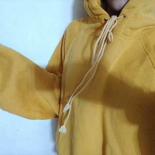 黃色泡泡袖帽t