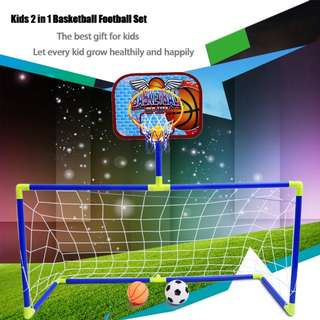 2IN1 Football Basketball Set Indoor Outdoor Sport