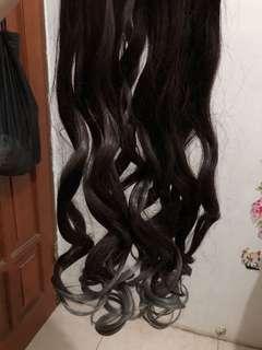 NEW Hair Clip Ombre Grey-Coklat