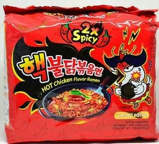 Samyang Noodles 2X pack of five