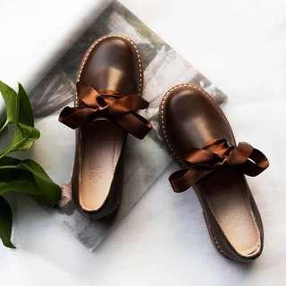 真皮 緞帶皮鞋