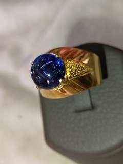 Natural mogok blue sapphire