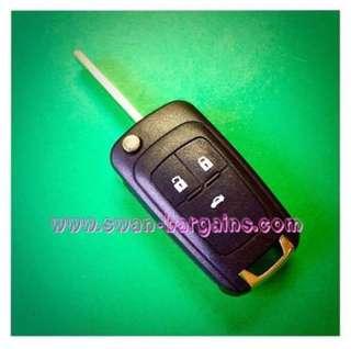 Chevrolet Cruze LS LT ECO LTZ GM J300 Folding Remote FOB Flip Key Shell Case (2009-2015) 3 Buttons Replacement Shell