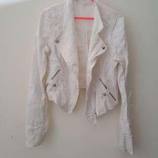 White Bikers Jacket