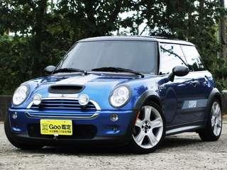 2006年Mini Cooper S版。1598 cc. 藍黑色