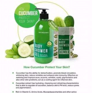 🎗Skinganic Natural Showel Gel🥒🎗Buy 1Btl Free 1×Showel Ball🎗