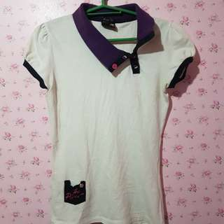 Lee pipes white shirt