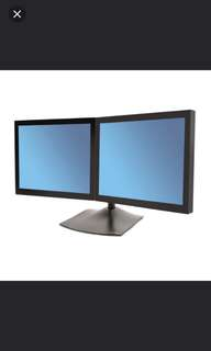 Ergotron DS100 save desktop space Dual-Monitor Arm Display Stand, LED LCD dell acer stand.