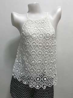Knit Lace Sleeveless Top