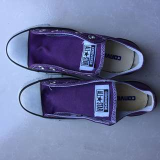 Authentic Converse Purple Sneakers