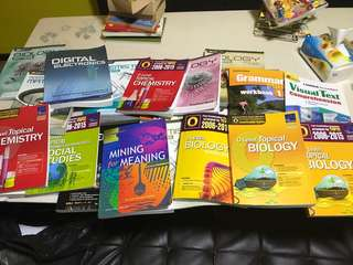 Stack of Close to 30 books for GCE O levels past year papers for sale