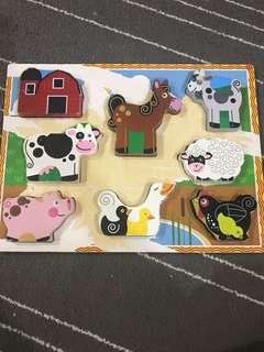 Wooden Puzzles Animal Farm