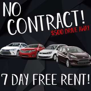 NO CONTRACT CAR RENTAL/LEASING FOR GRAB/PERSONAL USAGE