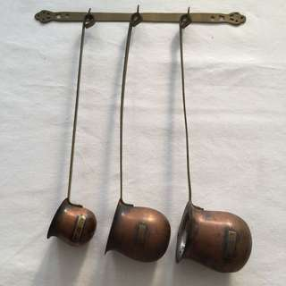 Vintage Style Copper and Brass Ladles