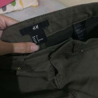 H&M ARMY GREEN JEANS