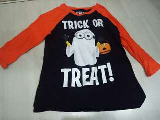 Long Minion Halloween Glow in the dark Shirt