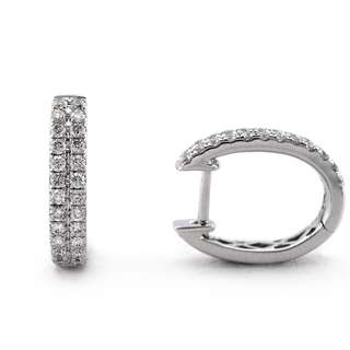 Mother's Day Sale! Natural Diamond On 18K White Gold Earrings