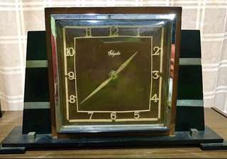 Table Clock - Vintage Scotland Made Electric Clock