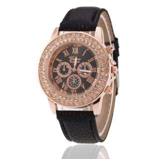 Leather Black Watch