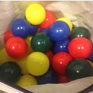 Colourful Plastic Balls