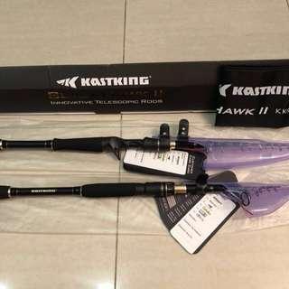 Fishing rod - BN kastking BlackHawk II telescopic rod(baitcast)