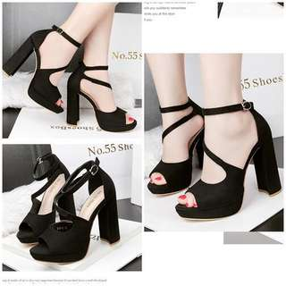 High Heels Tali Import SHH8138 Heels Tebal Heels Trendy