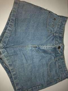 Korean High-wasted denim shorts