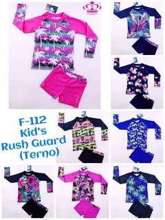 GIRLS/KIDS RUSH GUARD SWIMWEAR TERNO (HIGH QUALITY)
