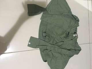 skort in army green