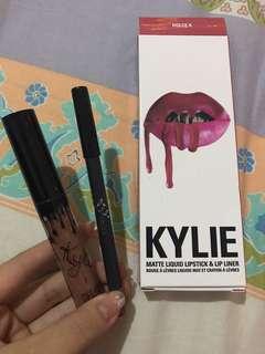Kylie matte liquid lipstick & lip liner dolce k