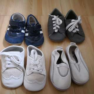 5 pairs of baby shoes/sandals for 0-3 months
