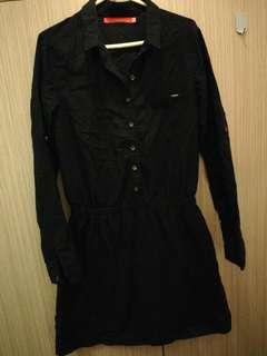 Black Cotton Dress (Bum Equipment)