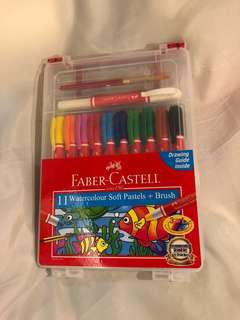Faber Castell watercolor pastel and brush