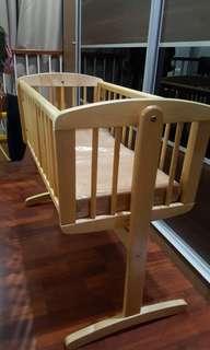 mothercare baby swinging crib with matress