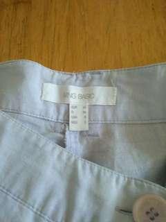 Mango Wide Leg Cropped Pants