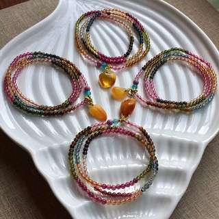 5⃣️ Wholesale Natural tourmaline bracelet.