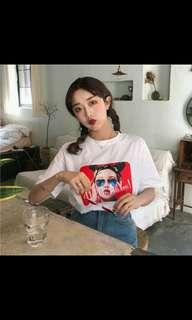 (PO) Korean style fashion girl printed top