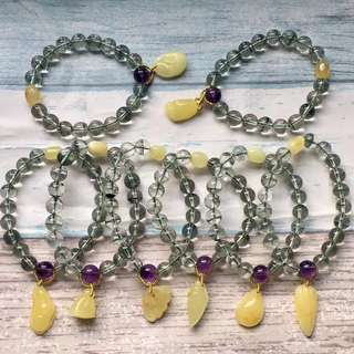 1⃣️wholesale Natural green ghost of the treasure basin bracelet.
