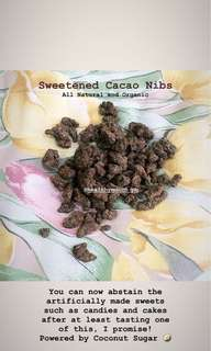 Sweetened Cacao Nibs w Coco Sugar (80g)