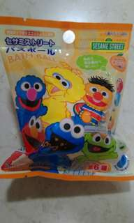 Bath ball w surprise sesame toy from japan