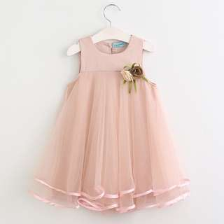 3T - 7T Summer Flowers Elegance Flowing Dress for Girls