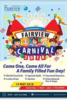 """Coupons to Fairview International School Ipoh Carnival """"18"""